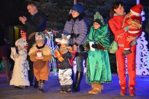 Торжественное открытие новогодней елки в Родинском